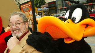 Joe Alaskey with 'Daffy Duck' in 2003