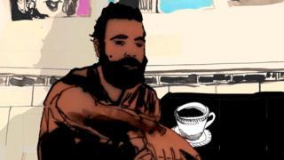 Baghdad coffee shop