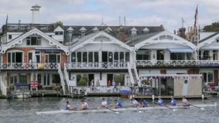 Rowers at regatta