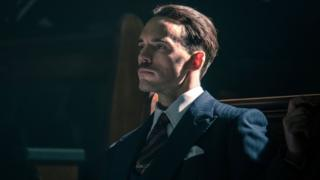 Sam Claflin as Sir Oswald Mosley in Peaky Blinders