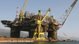 Plataforma offshore da Petrobras em Angra dos Reis