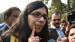 Chairwoman of the Delhi Commission for Women, Swati Maliwal in Delhi in 2015