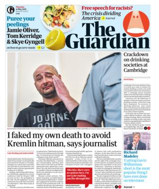 Guardian front page - 31/05/18