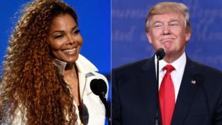 Janet Jackson and Donald Trump