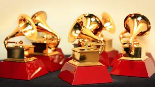 A collection of Grammy Awards