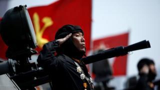 Military parade in Pyongyang, 15 April