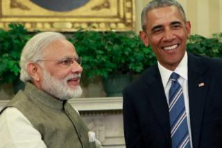 President Barack Obama meets with Prime Minister Narendra Modi of India in the Oval Office at the White House on June 7, 2016 in Washington, DC. Modi will address a joint meeting of Congress on Wednesday.