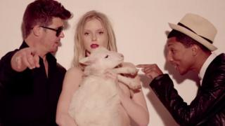 Still from Blurred Lines video