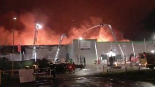 Fire at the Ocado warehouse