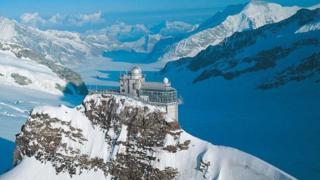 Estación de monitoreo del aire en Jungfraujoch