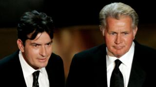 Charlie and Martin Sheen in 2006