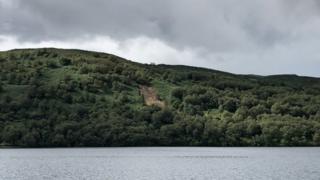 Landslide near Royal Cottage