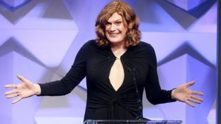 Lilly Wachowski accepts an award