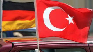 Türk ve Alman bayrakları