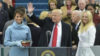 Melania Trump, Donald y Tiffany,