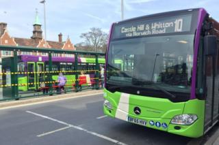 Bus in Ipswich