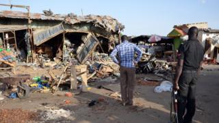 Взрыв на рынке в Нигерии