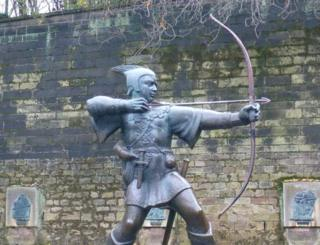Robin Hood sculptures in Nottingham to mark the visit of then Princess Elizabeth are also among those listed