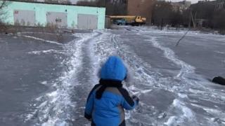 Черный снег в Темиртау