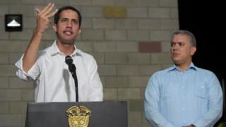 Guaidó y Duque en Cúcuta