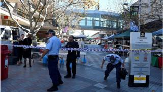 Australian police at Hornsby Mall