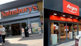 Sainsbury and Argos stores from outside