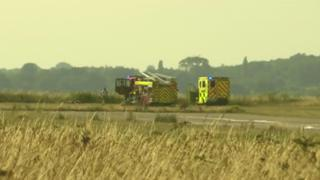 Emergency services at Bembridge Airport
