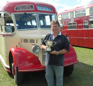 Nick Taylor with his Bedford OB coach