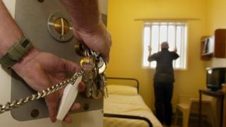 Prison cell door opening