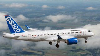 C-100 Bombardier jet