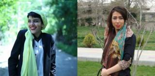 صبا کردافشاری، ۱۹، و یاسمن آریان، ۲۳، به دلیل تظاهرات مسالمت آمیز به زندان محکوم شده اند