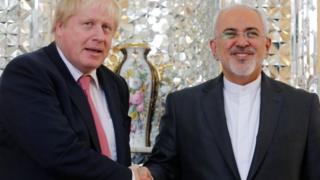 Boris Johnson and Mohammad Javad Zarif
