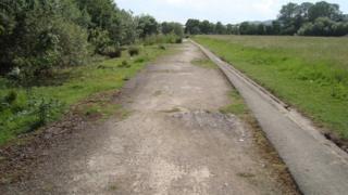 Remains of runway