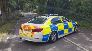 Police traffic car