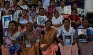 Women from the Extrajudicial Execution Victims Families Association of Manipur