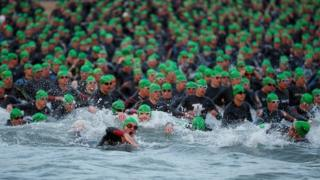 Athletes in previous Ironman Wales