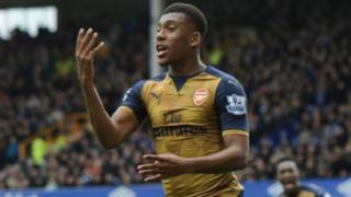 Mchezaji wa Arsenal Alexi Iwobi alishiriki katika mechi ya Nigeria dhidi ya Zambia