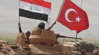 Irak ordusu ve Türkiye ordusunun ortak tatbikatı