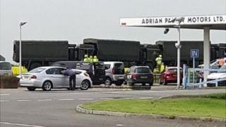 Photo of A17 crash