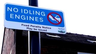 Sheffield Council anti-idling sign