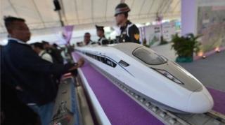 แฟ้มภาพโมเดลรถไฟความเร็วสูงไทย-จีน