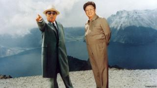Kim Il-sung and Kim Jong-il in 1994