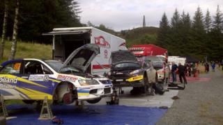 Rally servicing