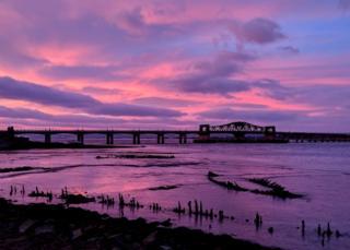 Kincardine Bridge at sunrise