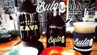 Bula bottles on countertop