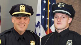 """Sgt. Anthony """"Tony"""" Beminio, Des Moines Police Dept, 39, and Officer Justin Martin, Urbandale Police Dept, 24."""