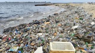 Residuos plásticos en el mar