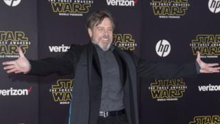 "Actor Mark Hamill attends the World Premiere of ""Star Wars: The Force Awakens"","