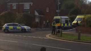 A police cordon was put in place at Kennet Rise, Bedford, where an 18-year-old man was stabbed.