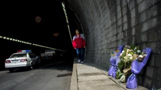 Flowers at the entrance of the tunnel